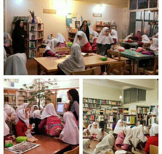 کتابخانه زهرائیه در هفته کتاب - بازدید از قاصدک